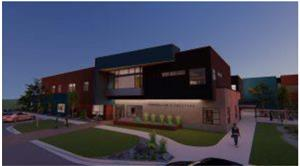 Exterior of the new Longfellow Elementary School